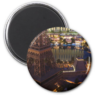 Las Vegas Strip In The Morning 2 Inch Round Magnet