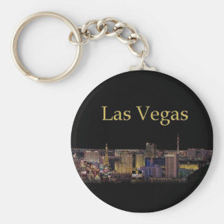 Las Vegas Strip Keychain Night time