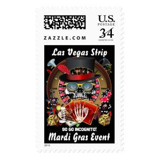 Las Vegas Strip Mardi Gras Event so go Incognito Postage