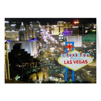 Las Vegas Strip Newlywed Thank You Cards