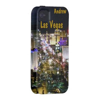 Las Vegas Strip Night Aerial View Vibe iPhone 4 Case