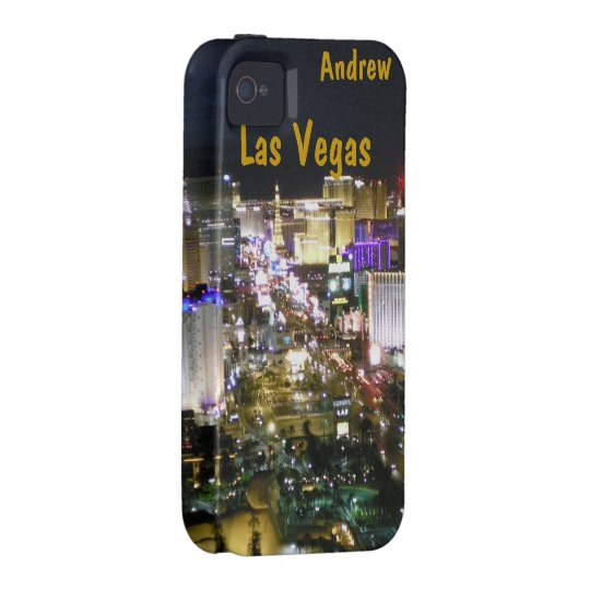 Las Vegas Strip Night Aerial View iPhone 4/4S Case