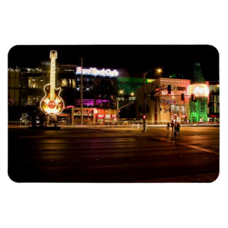 Las Vegas Strip @ Night Flexible Magnet #5