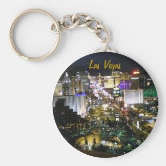 Las Vegas Strip Photo Basic Round Button Keychain