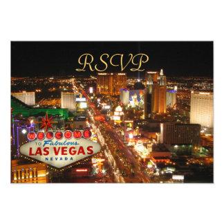 Las Vegas Strip RSVP cards Invite
