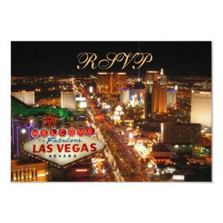 Las Vegas Strip RSVP cards Custom Invitations