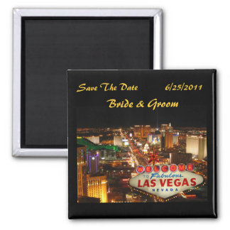 Las Vegas Strip Save The Date Magnet