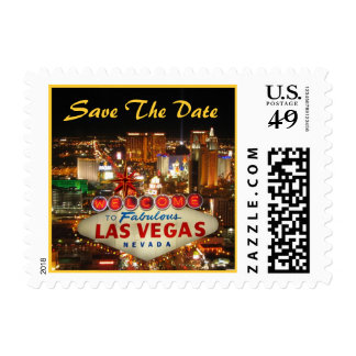 Las Vegas Strip Save The Date Postage