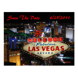 Las Vegas Strip Save The Date Postcard