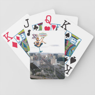 Las Vegas Strip Showgirl with Sign Bicycle Playing Cards
