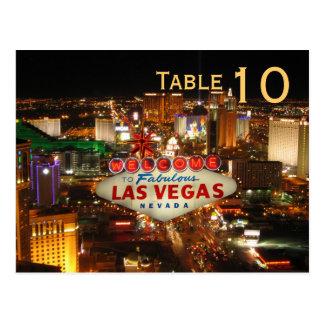 Las Vegas Strip Table Number Postcard