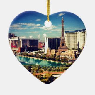 Las Vegas Strip View Ceramic Ornament