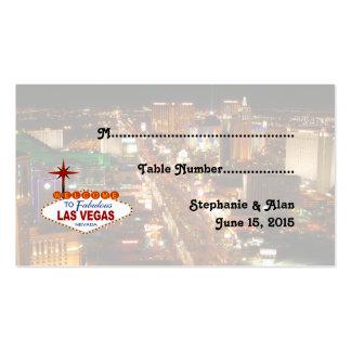 Las Vegas Strip  Wedding Place Cards Business Card Templates