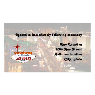 Las Vegas Strip  Wedding Reception Card Double-Sided Standard Business Cards (Pack Of 100)