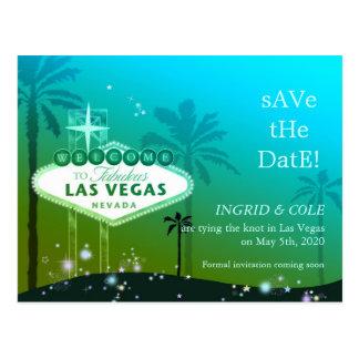 Las Vegas Strip Wedding Save the Date Postcards