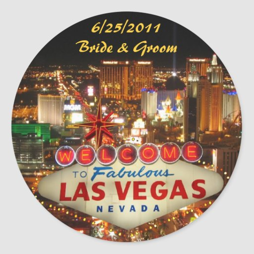 Las vegas strip wedding sticker zazzle for Arts and crafts stores in las vegas
