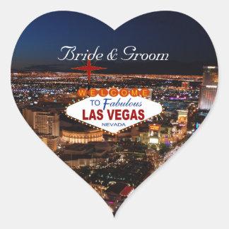 Las Vegas Strip Wedding Stickers