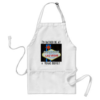 Las Vegas Strip Welcome Sign Adult Apron