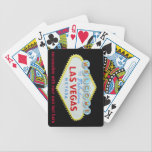 "Las Vegas Strip Welcome Sign Playing Cards<br><div class=""desc"">Playing cards with the famous Las Vegas welcome sign that greets casino gambling fans as they enter  Nevada&#39;s casino lined boulevard at the southern end of this famous American gambling mecca. These playing cards are easy to personalize with the optional text template area.</div>"