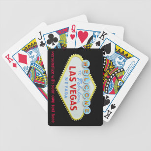 Las Vegas Strip Welcome Sign Playing Cards