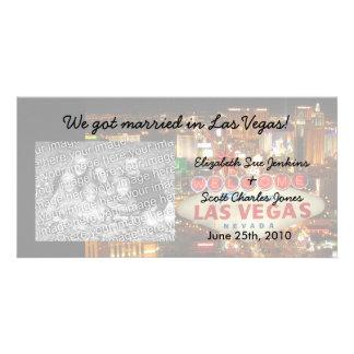 Las Vegas Strip We're Married Photo Cards