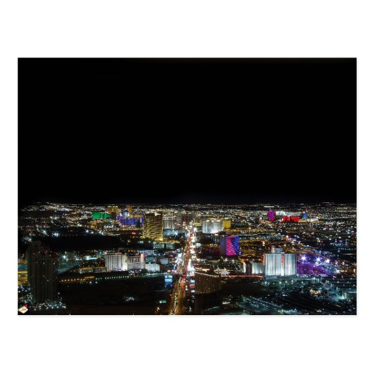 Las Vegas Strip Wide Angle View Postcards
