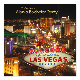 Las Vegas Style Bachelor Party Invitation #2