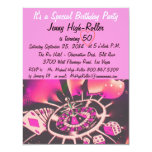 Las Vegas Style Birthday Party 4.25x5.5 Paper Invitation Card