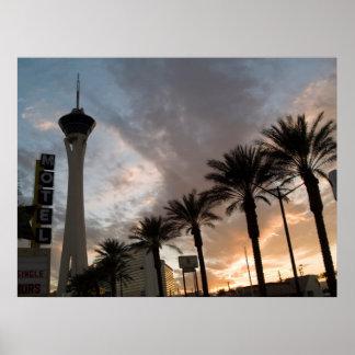 Las Vegas Sunset Poster Print