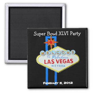 Las Vegas Super Football Party 2 Inch Square Magnet