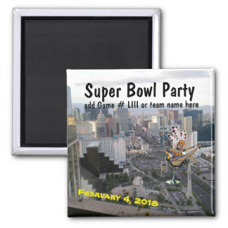 Las Vegas Super Football Party with showgirl Magnet
