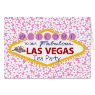 Las Vegas Tea Party Card
