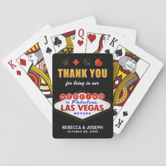 Las Vegas Thank You Being Our Wedding Party Gifts Playing Cards
