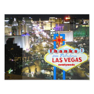 Las Vegas Thank You Newlyweds Card
