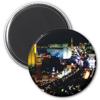 Las Vegas The Strip at night 2 Inch Round Magnet