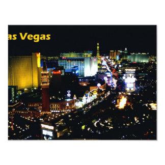 Las Vegas The Strip at night 4.25x5.5 Paper Invitation Card