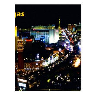 Las Vegas The Strip at night Postcard