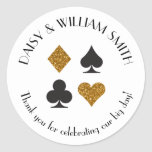 Las Vegas Theme Custom Text Sticker in Gold Black