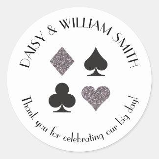 Las Vegas Theme Custom Text Sticker Silver Black