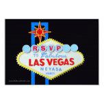 Las Vegas Theme Party RSVP enclosure Announcements