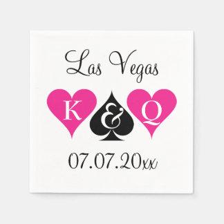 Las Vegas theme wedding napkins with monogram Standard Cocktail Napkin