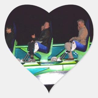 Las Vegas Thrill Ride At Night Heart Sticker