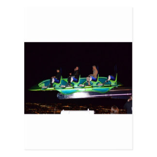 Las Vegas Thrill Ride At Night Postcard
