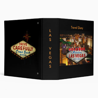 Las Vegas Travel Diary Binder