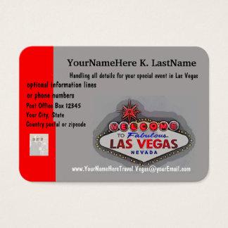 Las Vegas Travel Planner Business Card