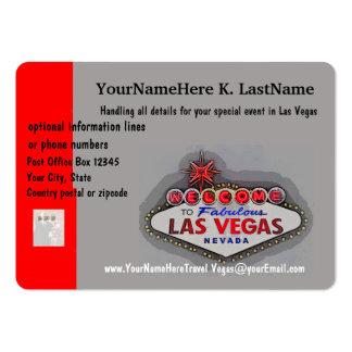 Las Vegas Travel Planner Large Business Card