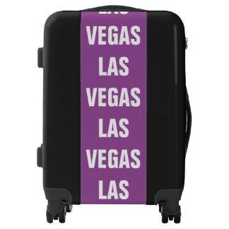 LAS VEGAS, Typo white Luggage