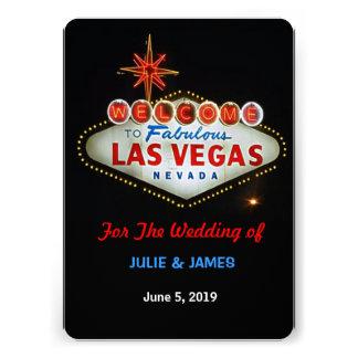 Las Vegas único que casa la invitación formal