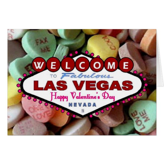 Las Vegas Valentine's Day Candy Card