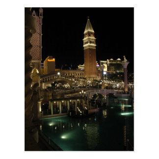Las Vegas veneciano en la noche Tarjetas Postales